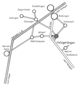 Anfahrtsbeschreibung Holzgerlinger Variete in der Stadthalle Holzgerlingen