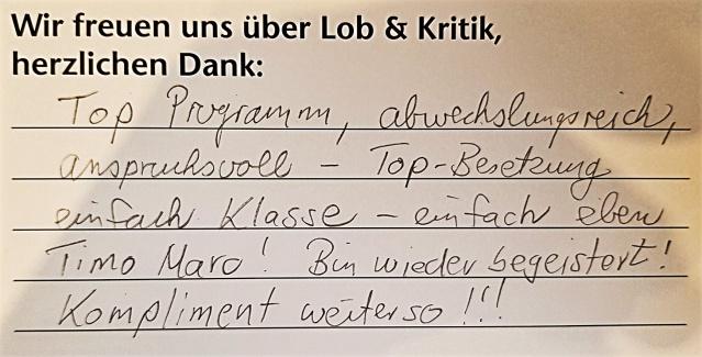 Gäste Empehlung Holzgerlinger Varieté